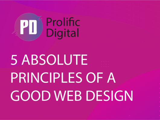Absolute principles of a good web design